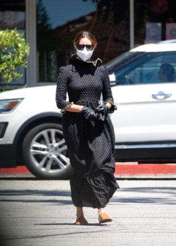 Ashley Tisdale Wearing Mask Gloves Eyewear Out Los Angeles
