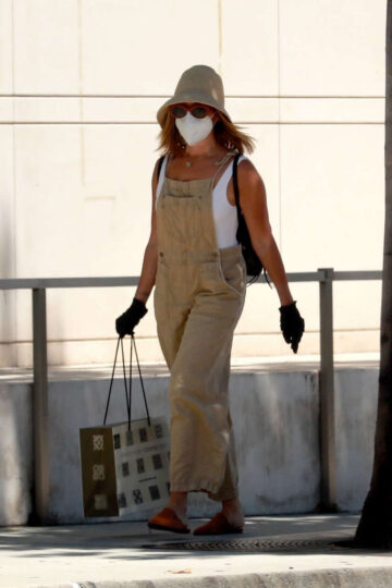 Ashley Tisdale Wearing Mask Out Los Angeles