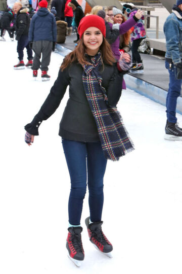 Bailee Madison Ice Skating Nathan Phillips Square Toronto