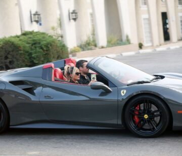 Bebe Rexha Gets New Ferrari Delivered To Her Home Los Angeles