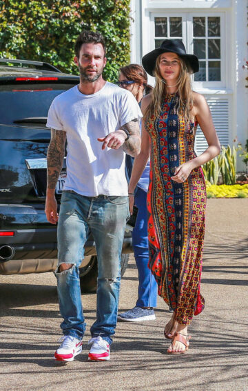 Behati Prinsloo Adam Levine Out Pacific Palisades