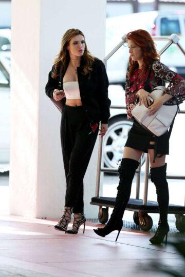 Bella Dani Thorne Arrives Their Hotel Miami