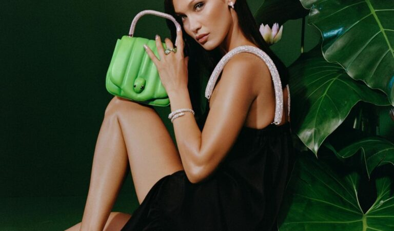 Bella Hadid For Ambush X Bvlgari Serpenti Handbags Accessories Capsule Collection August (5 photos)