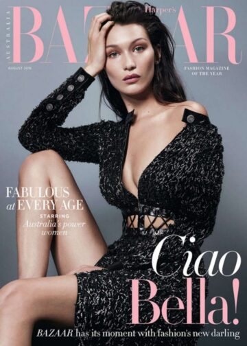 Bella Hadid Harpers Bazaar Magazine Australia August