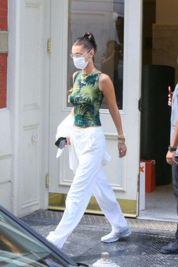 Bella Hadid Leaves Her Apartment New York