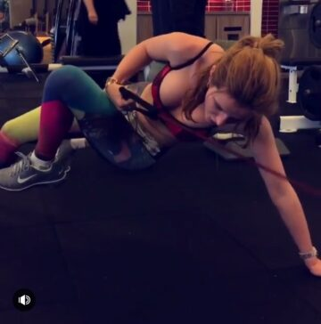 Bella Thorne Working Out