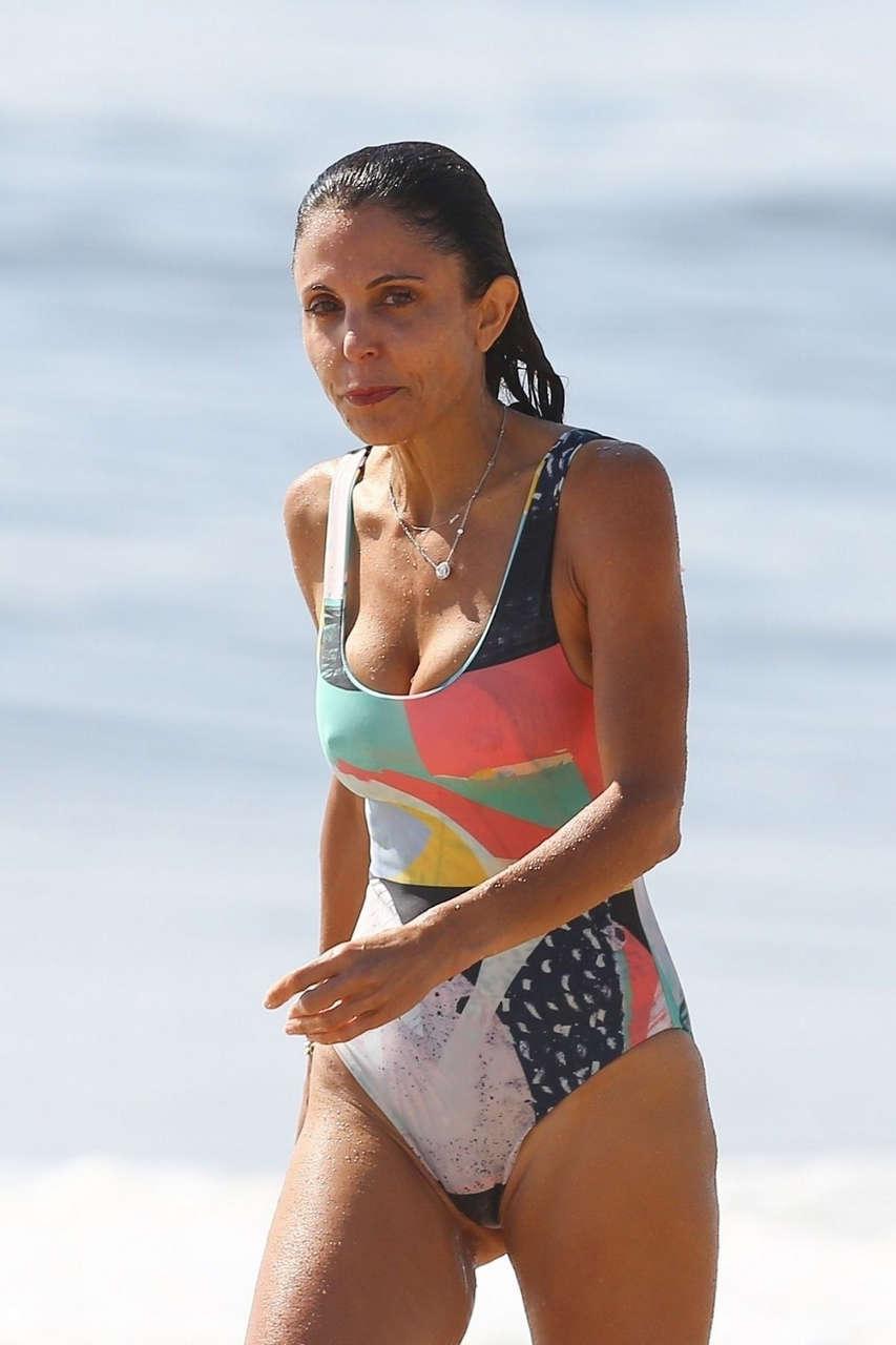 Bethenny Frankel Swimsuit Surfing Beach Hamptons
