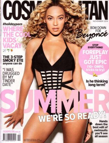 Beyonce Cosmopolitan Magazine Australia November 2014 Issue