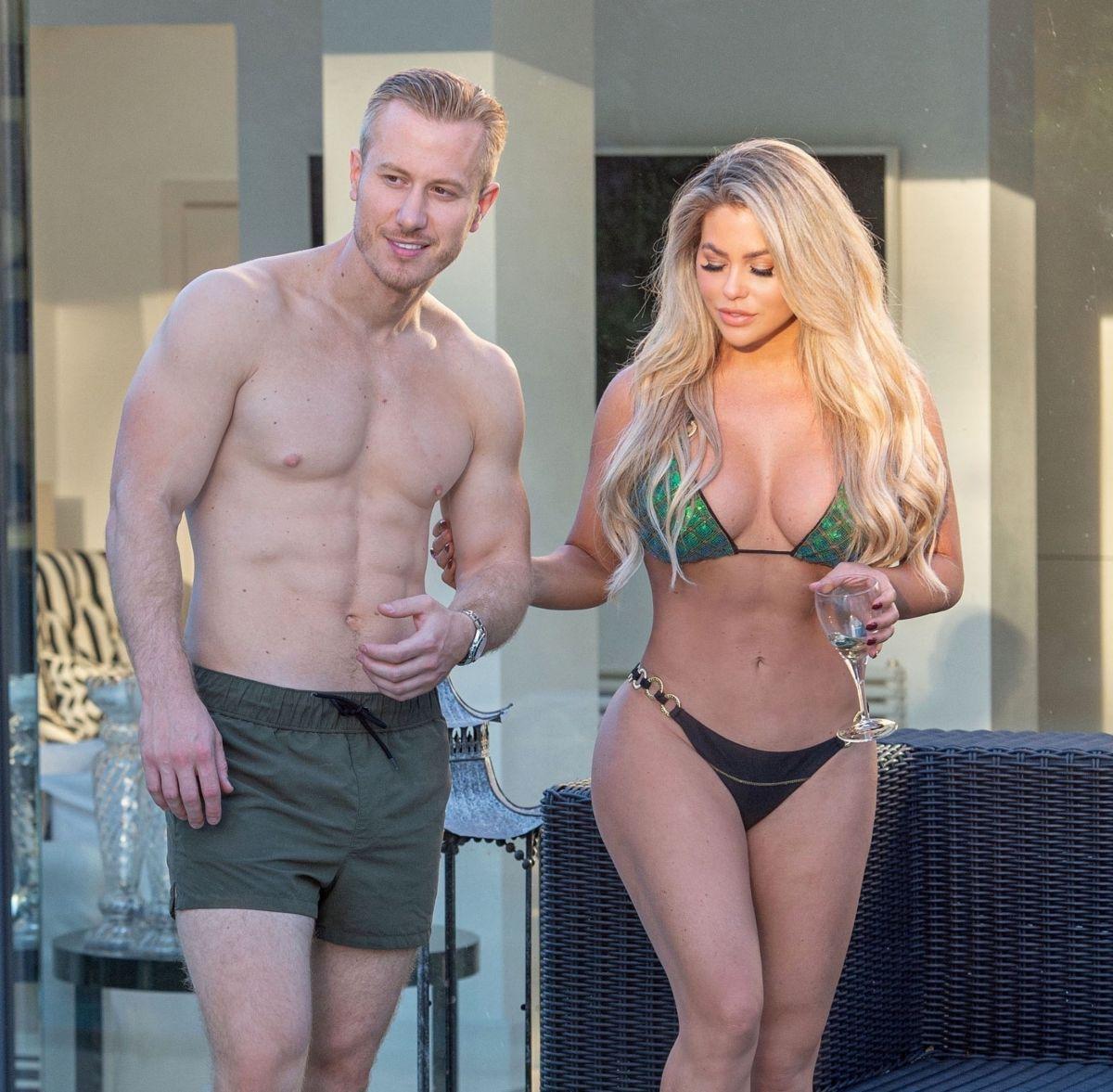 Bianca Gascoigne Bikini Kris Boyson Holiday Croatia