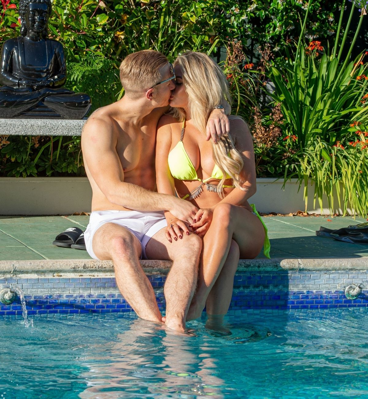 Bianca Gascoigne Bikini Pool Croatia