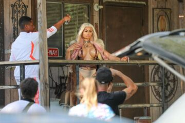 Blac Chyna Set Her New Music Video Palm Desert