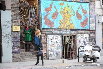 Blake Lively At Gossip Girl Set New York