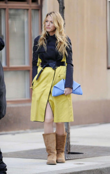 Blake Lively Gossip Girl Set New York