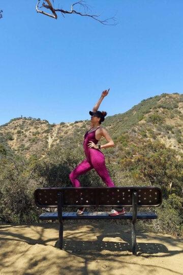 Blanca Blanco Out Hiking Runyon Canyon Los Angeles