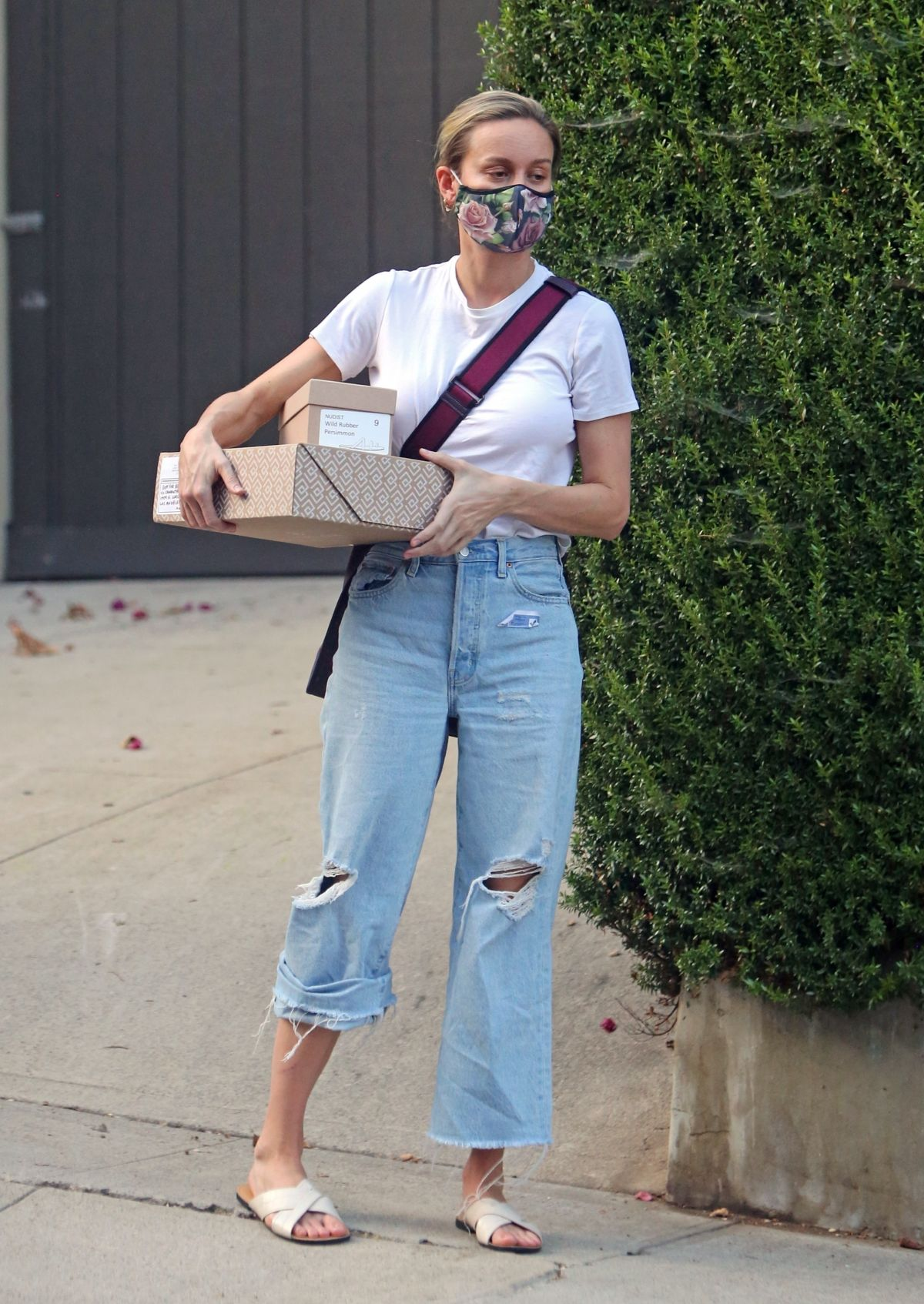 Brie Larson Out Picking Up Packages Los Angeles
