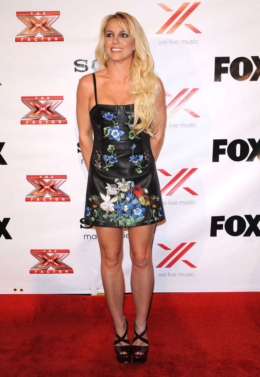 Britney Spears X Factor Viewing Party West Hollywood
