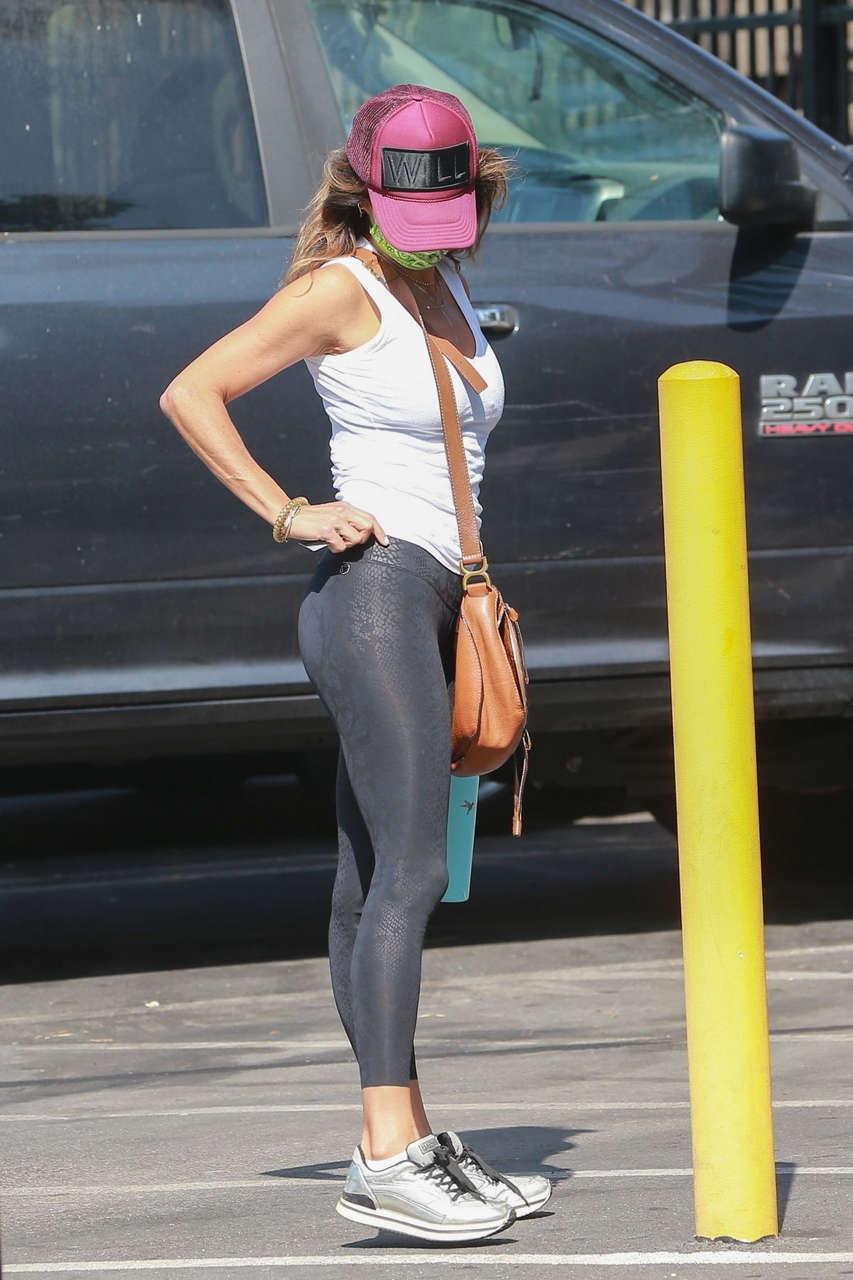 Brooke Burke Arrives Gym West Hollywood