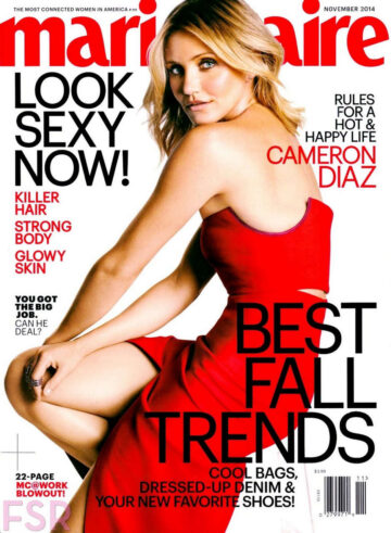 Cameron Diaz Marie Claire Magazine November 2014 Issue