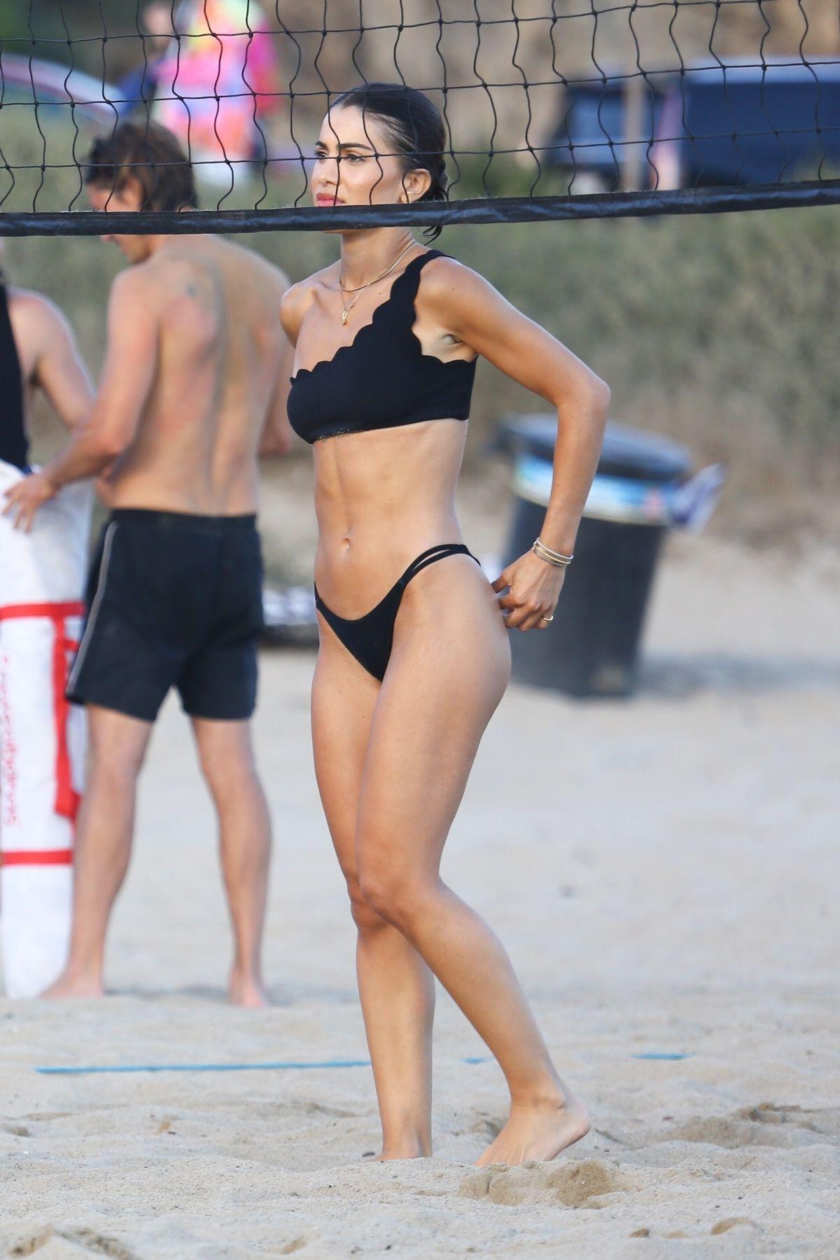 Camila Coelho Black Bikini Beach Malibu