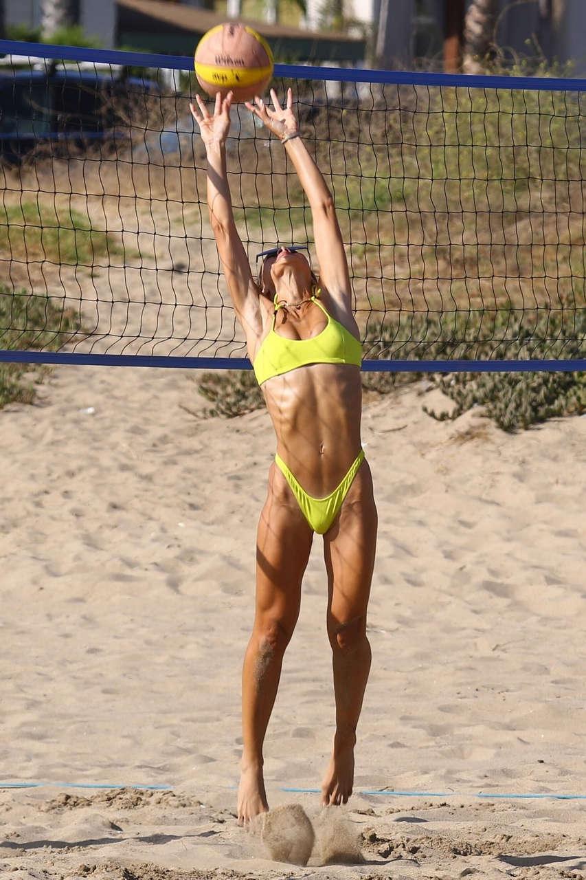 Camila Coelho Yellow Bikini Beach Santa Monica