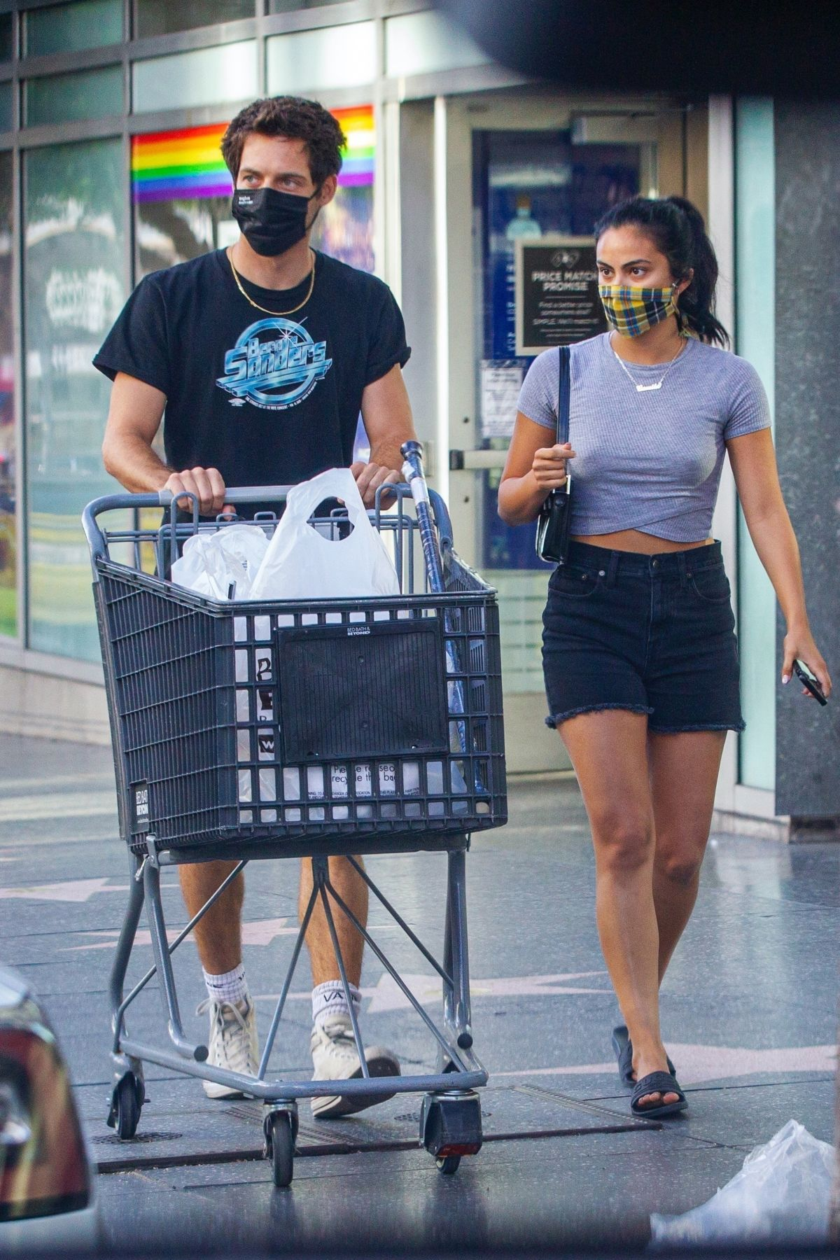 Camila Mendes Grayson Vaughan Sopping Bed Bath Beyond Hollywood
