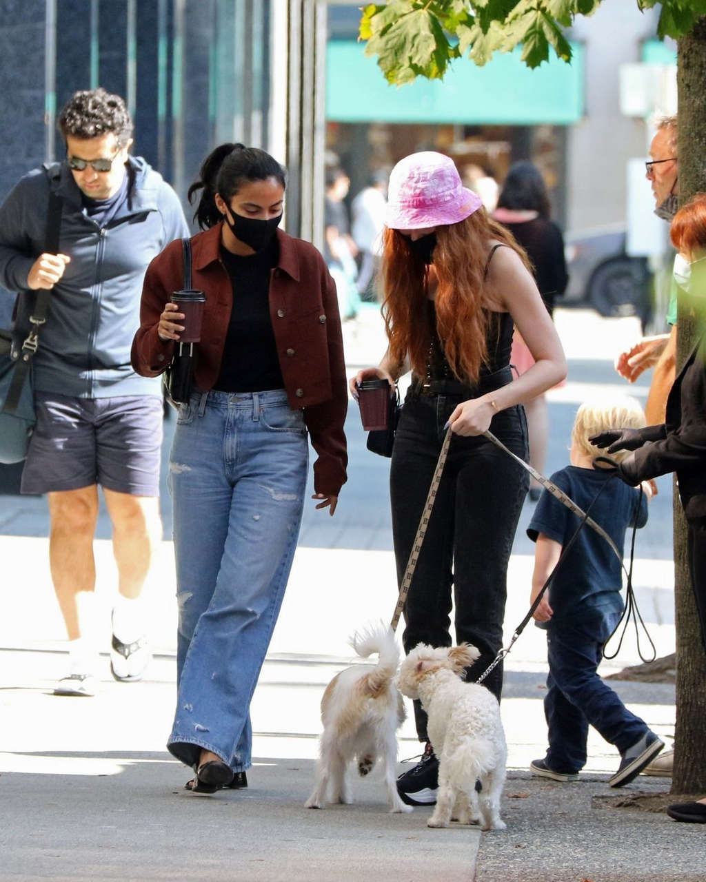Camila Mendes Madelaine Petsch Out With Their Dogs Vancouver