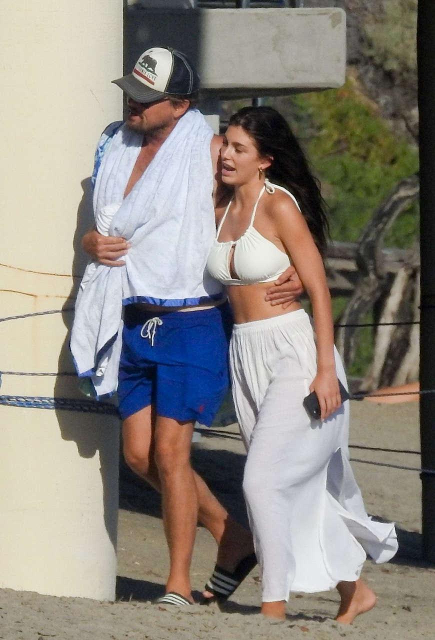 Camila Morrone Leonardo Dicaprio Out Beach Malibu