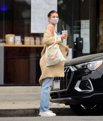 Camila Morrone Out With Her Dog Los Angeles