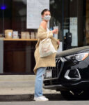 Camila Morrone Ripped Denim Out With Her Dog Los Angeles