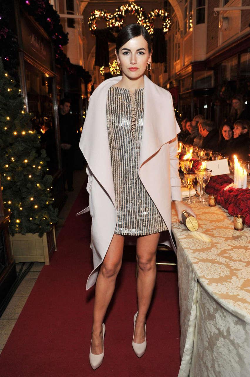Camilla Belle Salvatore Ferragamo Store Launch London