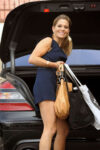 Candace Cameron Bure Arrives Dwts Practice Hollywood