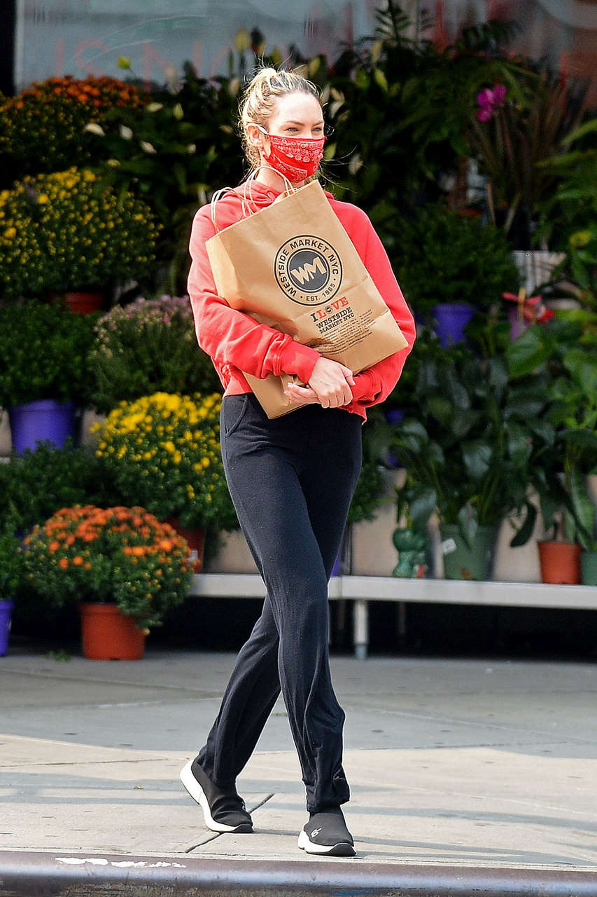 Candice Swanepoel Out Shopping New York