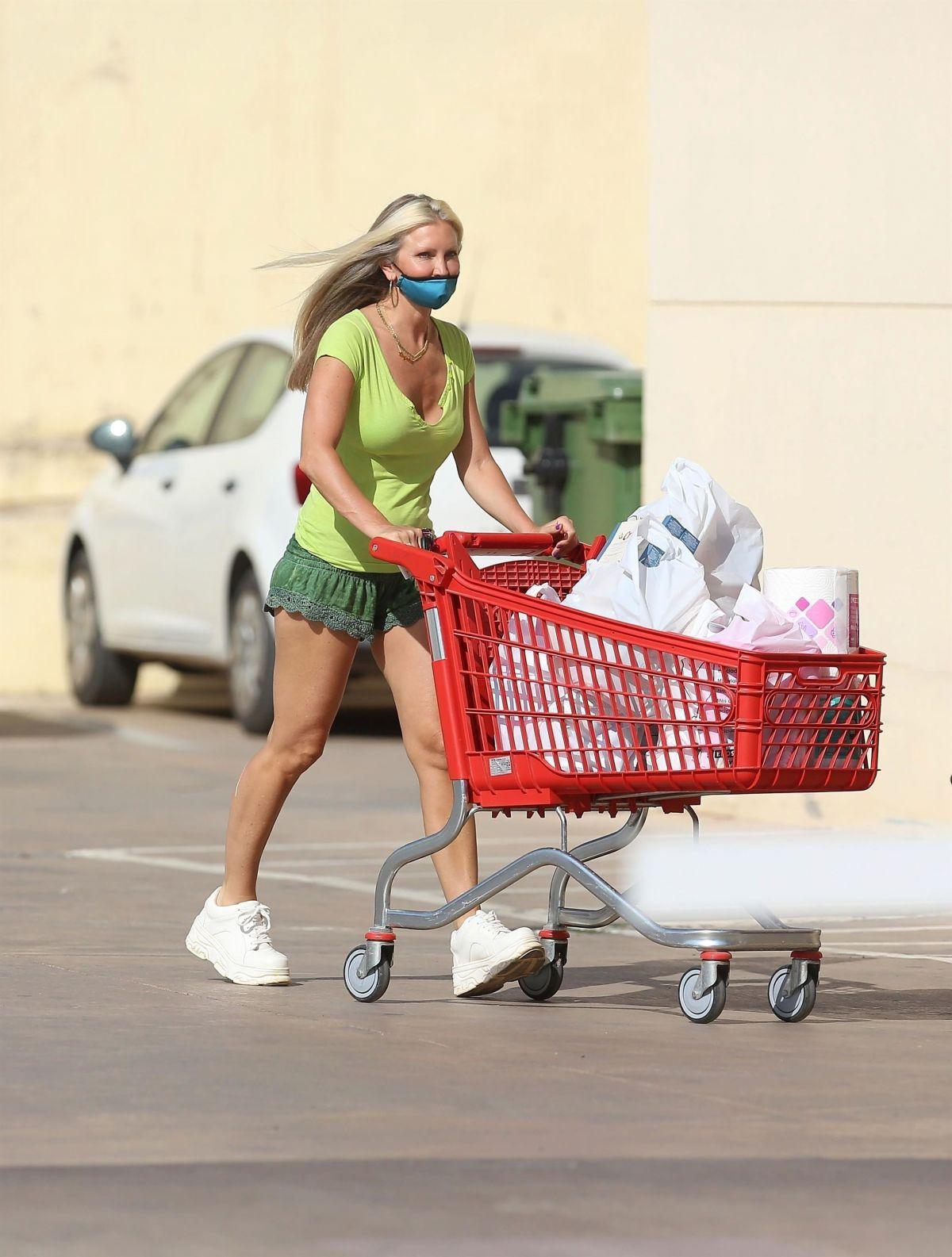 Caprice Bourret Out Shopping Supermarket Ibiza