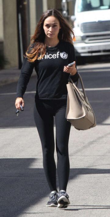 Cara Santana Tights Out Los Angeles