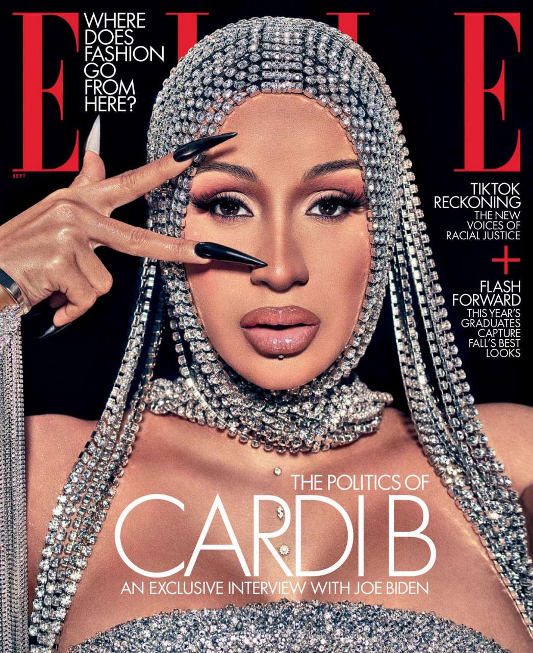 Cardi B For Elle Magazine September