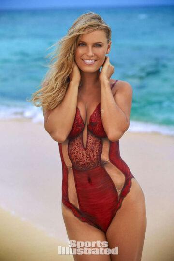 Caroline Wozniacki Sports Illustrated Swimsuit Bodypaint Issue