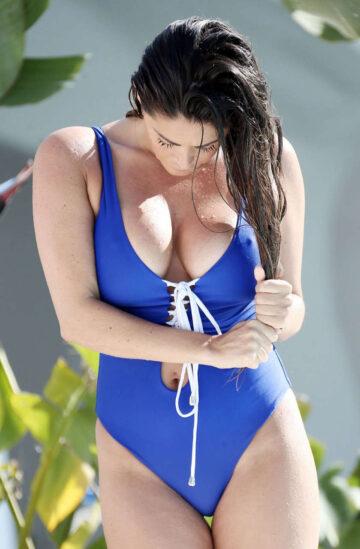 Casey Batchelor Swimsuit Pool Marbella