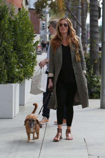 Cat Deeley Walks Her Dog