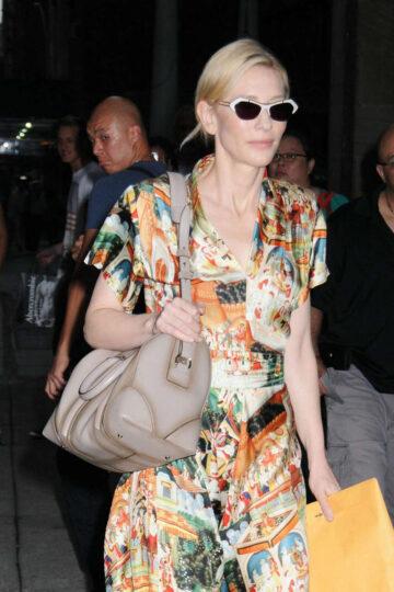 Cate Blanchett Arrives New York City Center