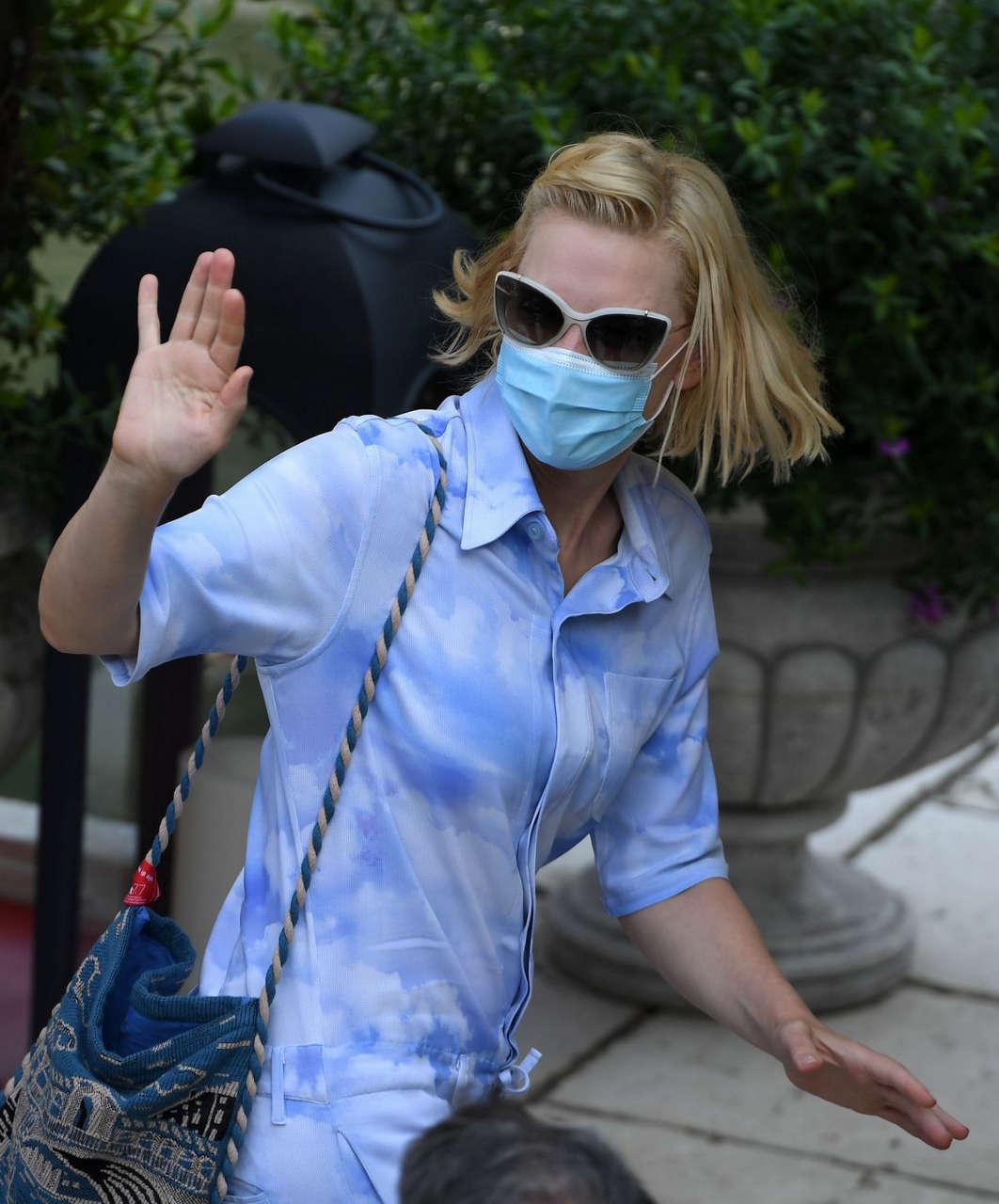 Cate Blanchett Leaves Her Hotel Venice