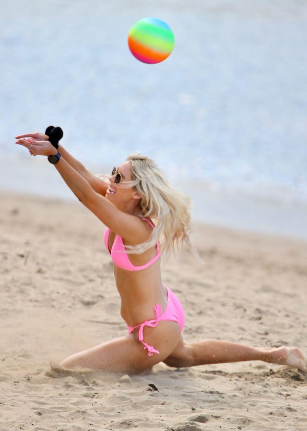 Charley Bond Pink Bikini Beach Gold Coast