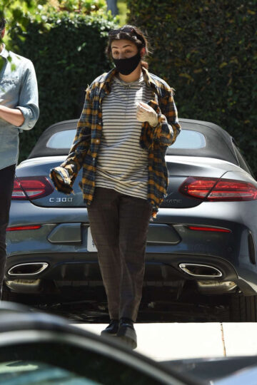 Charli Xcx Huck Kwong Wearing Masks Gloves Out Los Angeles