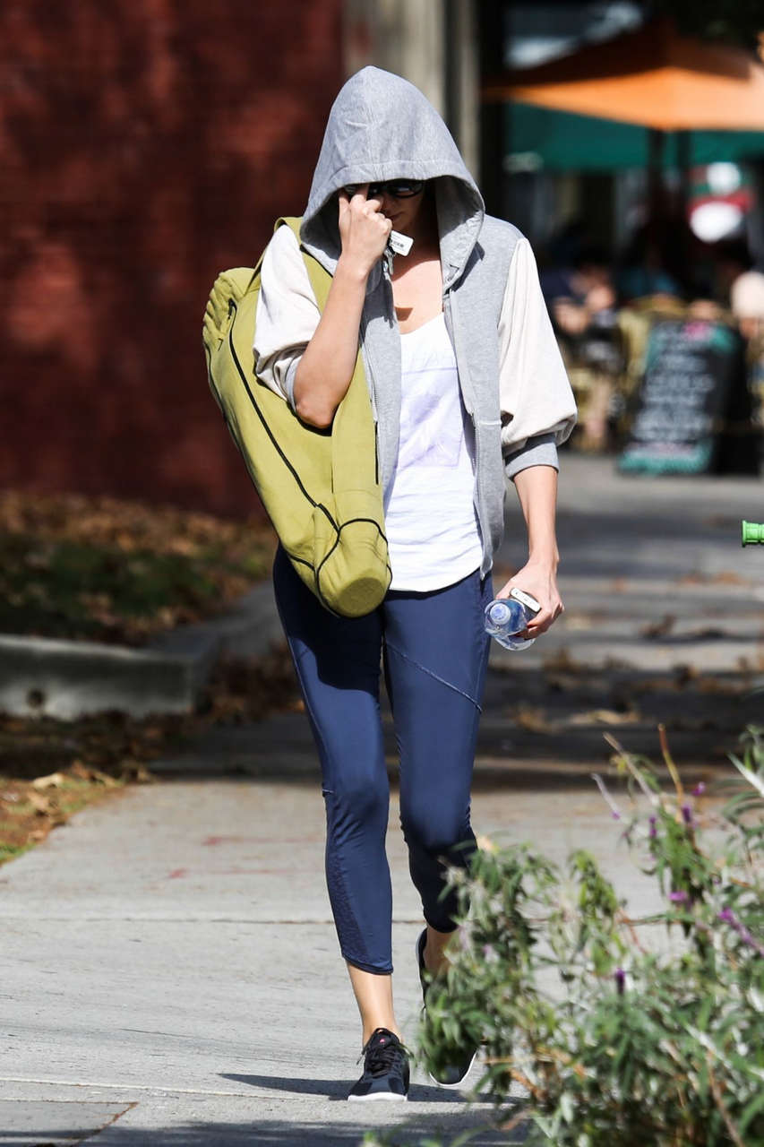 Charlize Theron Leaves Yoga Class West Hollywood