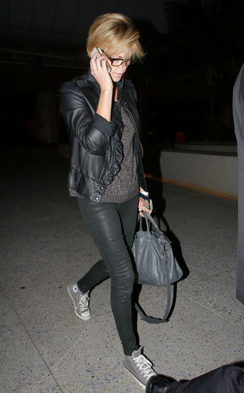 Charlize Theron Leavs Lax Airport