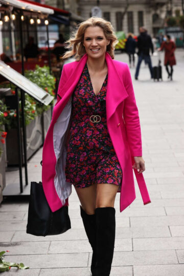 Charlotte Hawkins Arrives Classic Fm London