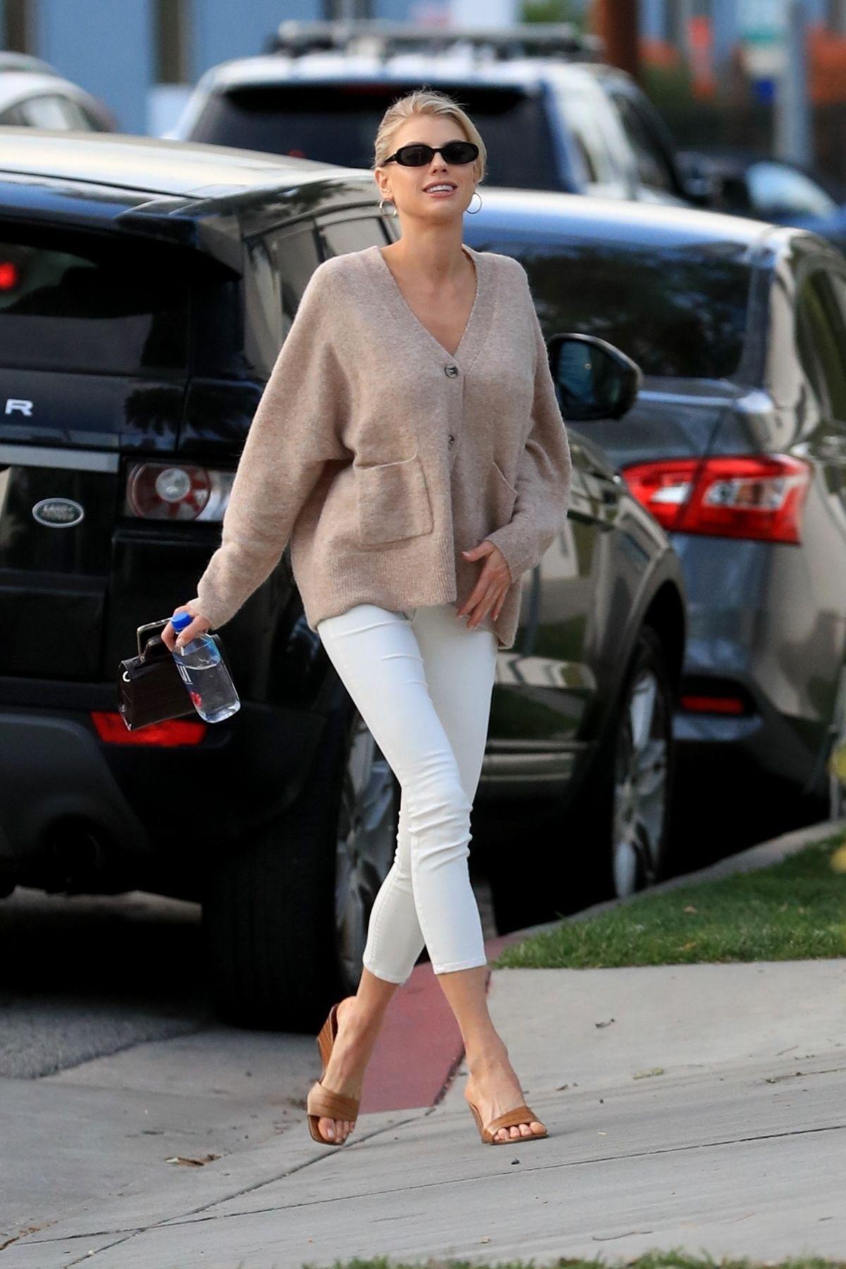 Charlotte Mckinney Arrives Cha Cha Matcha Los Angeles