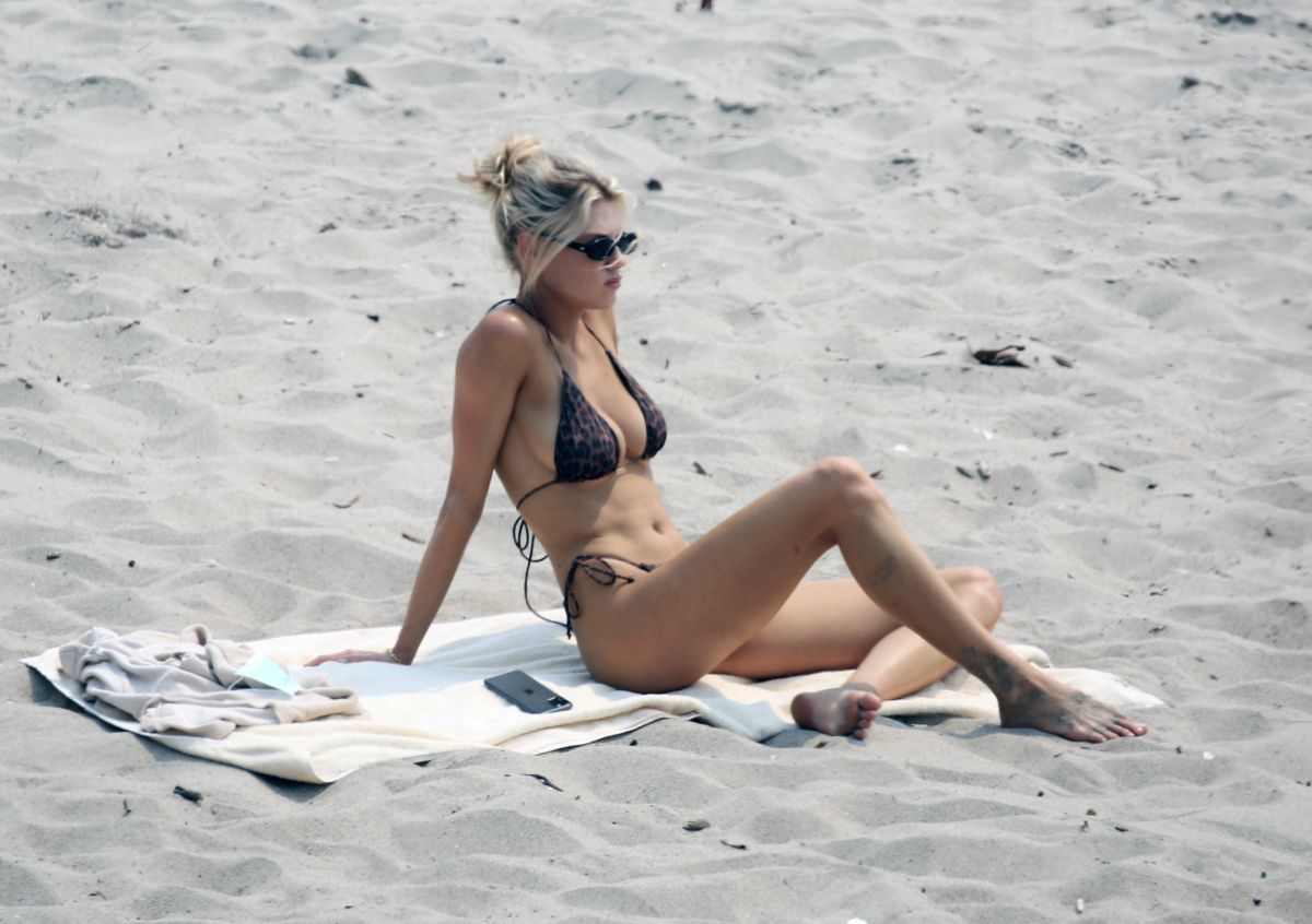 Charlotte Mckinney Bikini Beach Malibu