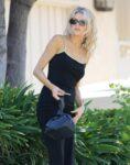 Charlotte Mckinney Tight Black Dress Out Los Angeles
