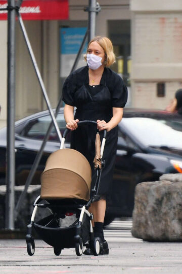 Chle Sevigny Out For Muffin Iced Coffee New York
