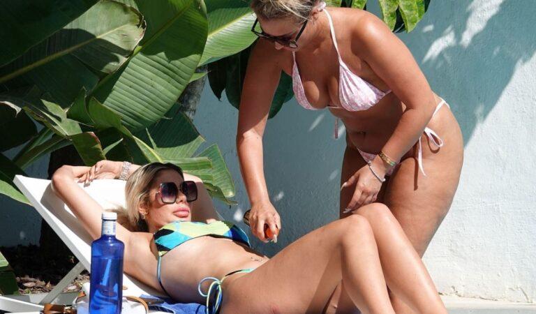 Chloe Ferry Bethan Kershaw Bikinis Pool Spain (31 photos)